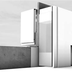 Rendering of a public bathroom
