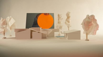 Image of a model for a house in Los Angeles