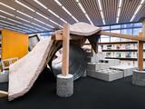 Installation set inside the Loeb Library at the Harvard Graduate School of Design.
