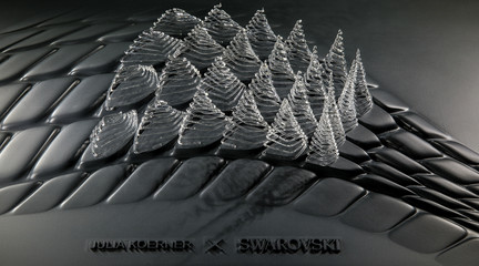 Image of glass printed crystals
