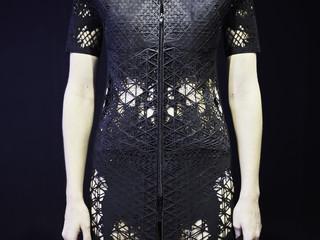 Image of model wearing 3D printed dress