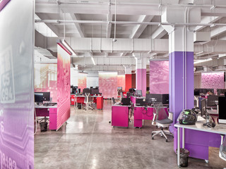 Image of a bright, colorful office space