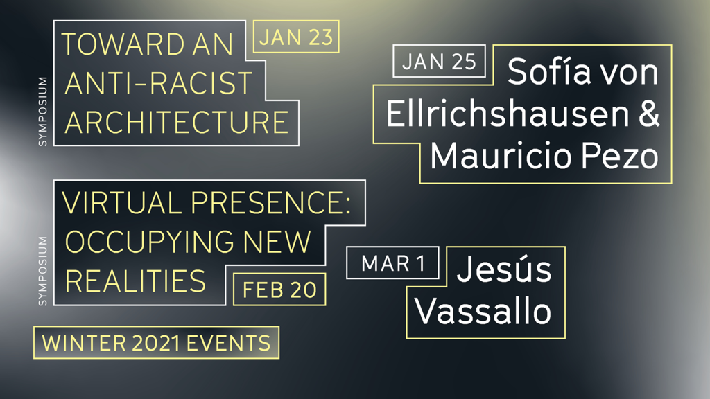 Winter 2021 Events Calendar at UCLA Architecture and Urban Design