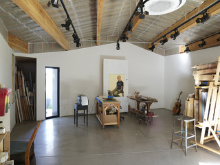 Interior shot of studio and workshop