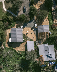 Aerial photograph of completed building