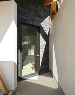 Photo of entryway with slate cladding