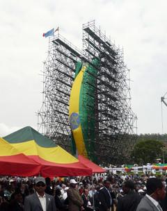 Aksum Obelisk repatriated, Ethiopia, 2008