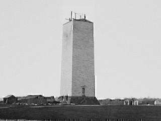 Washington Monument under construction, c. 1860