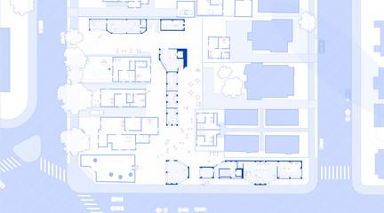 Ground floor plan drawing