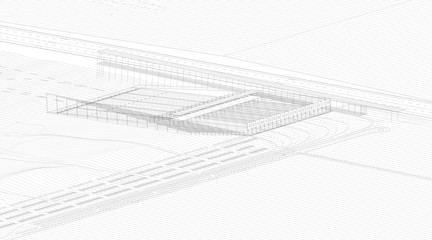 Aerial isometric drawing.
