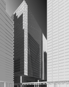 Rendered elevation drawing.