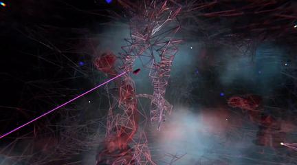 VR image of avatars created using VR and robotics