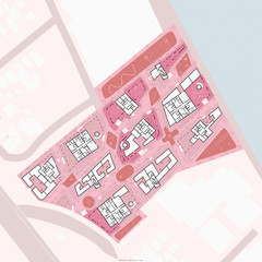 """Ground floor plan drawing drawn to 1/32"""" = 1' scale."""
