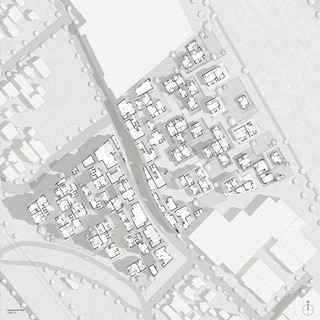 """Site plan drawing drawn at 1/32"""" = 1' scale."""