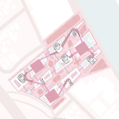 """Sixth floor plan drawing drawn to 1/32"""" = 1' scale."""
