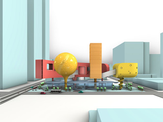 Screenshot from a student video envisioning the new multi-modal hub of the future