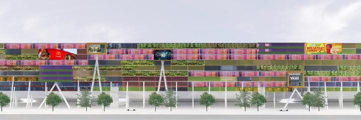 Digital rendering of  building elevation
