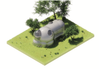 Student work from the undergrad studio, Sarcophagus: House in the Airstream