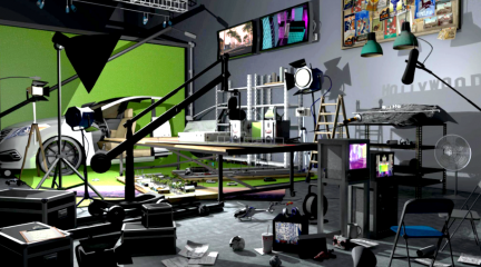 Still from Autopia, a video that uses technology to merge the real with the fictional.