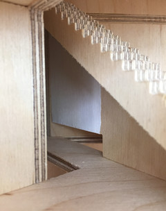 Photograph of physical model stairs