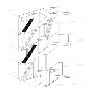Three dimensional drawing of building