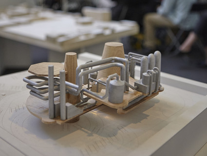 Image of student model made from wood and metal.
