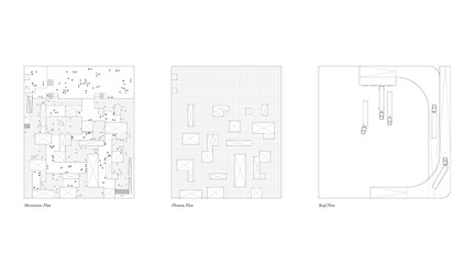 Site plan view focusing on the circulation of people and vehicles.